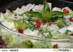 Ledový salát se zálivkou z Nivy recept - TopRecepty.cz Arancini, Potato Salad, Cabbage, Food And Drink, Low Carb, Treats, Vegan, Vegetables, Ethnic Recipes