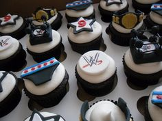 wwe cupcakes, would love to do these for my little bro