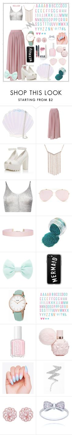 """Mermaid 102"" by itstrawberryyy ❤ liked on Polyvore featuring Skinnydip, Chicwish, Boohoo, Humble Chic, Forever 21, Casetify, CLUSE, Essie, NYX and Kylie Cosmetics"