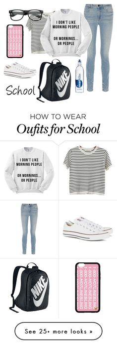 """School days"" by bribri74 on Polyvore featuring NIKE, Chicnova Fashion, Alexander Wang and Converse"