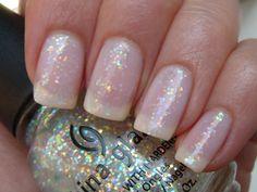 Essie nail whitener, China Glaze Snow Globe.