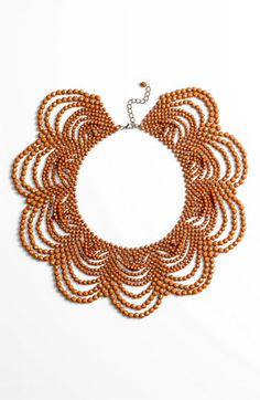 Natasha Couture Beaded Collar Necklace available at #Nordstrom statement necklace