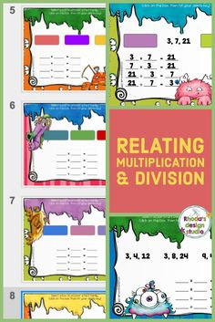 Students uncover a set of numbers and then create the multiplication and division equations (fact families) from the set. Practice writing multiplication and division equations and relating multiplication and division facts.  Use this on an interactive whiteboard or in Google Classroom.   Each card contains 3 fact families to choose from and lines for 2 multiplication equations and 2 division equations. #multiplicationfacts #teacherspayteachers Multiplication Facts Practice, Multiplication And Division, Multiplication Strategies, Math Activities, Teaching Resources, Teacher Created Materials, Teacher Supplies, Teacher Tips, Math Task Cards
