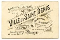 Free Vintage French Typography | Vintage French Graphic - Amazing Paris Ephemera - The Graphics Fairy