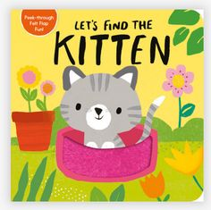 Kitten is hiding. Lift the felt flaps and look through the die-cut pages of this adorable board book to find her! There are many animals playing but could any of them be Kitten? Turn the peek-through pages and lift the felt flaps to find out in this hide-and-seek board book! Product Details: 12 Page Board Book 7-3/8 x 7-1/2 Toddler Books, Childrens Books, Board Book, Penguin Random House, How To Find Out, Kitten, Felt, Kids Rugs, Author