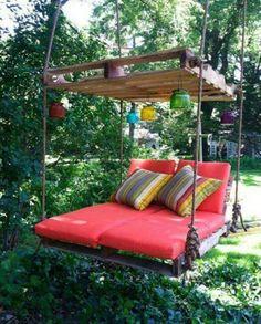 DIY Palet Swing Beds