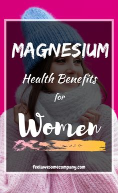 11 Health Benefits of Magnesium for Women 2019! #magnesium #magnesiumbenefits #womenshealth #health