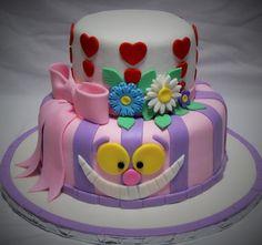 Image result for easy alice in wonderland birthday cake