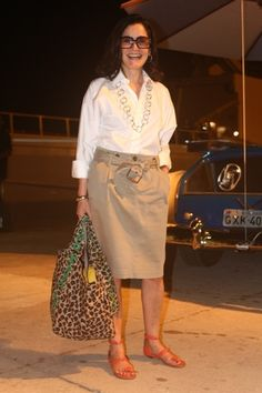 Look da Gloria no dia 1 do Fashion Rio   Chic - Gloria Kalil: Moda, Beleza, Cultura e Comportamento