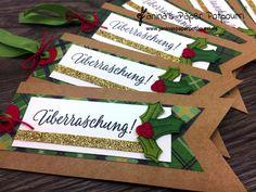 jpp - Geschenkanhänger Ilex / gift tag / Christmas / Weihnachten / Überraschung / Stampin' Up! Berlin / Drauf und Dran / Adventsgrün / Elementstanze Weihnachtsschmuck www.janinaspaperpotpourri.de