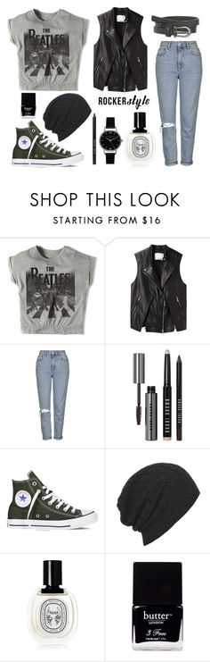 """on the road"" by kidrauhl6 ❤ liked on Polyvore featuring Pull&Bear, 3.1 Phillip Lim, Topshop, Bobbi Brown Cosmetics, Converse, AllSaints, Diptyque, Butter London and Olivia Burton"