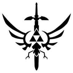League Of Zelda Triforce Master Sword Gaming Vinyl Decal Sticker The Legend Of Zelda, Legend Of Zelda Tattoos, Legend Of Zelda Breath, Zelda Logo, Zelda Birthday, Master Sword, Symbol Design, Link Zelda, Breath Of The Wild