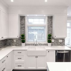 Atmosphere Interior Design - kitchens - ikea cabinets, ikea kitchen cabinets, groovy stixx tiles, mosaic tiles, blue mosaic tiles, blue mosaic tile backsplash, white countertops, GIGI'S GROOVY STIXX TILES,