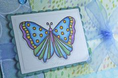Glue Dots, Pigment Ink, Copic Markers, Handmade Cards, Card Stock, Stampin Up, Stamps, Butterfly, Spring