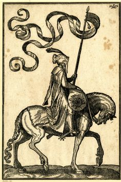 "A man on horseback holding a lance with a large banderole woodcuts 1576 ""Tyrkerværk"" (The Turkish Publication) of Melcior Lorck Medieval, Engraving Illustration, Ink Pen Drawings, British Museum, Printmaking, Fairy Tales, Cool Art, Sketches, Artwork"