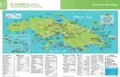 Here's a road map to help you find your way around St. Thomas -- Ocean Haven is on the Peterborg peninsula, right near Magens Bay.