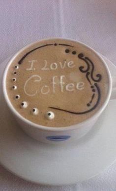 Latte art - I love coffee