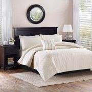 Better Homes and Gardens 4pc Solid Damask Reversible Quilt Bedding Set Image 1 of 3