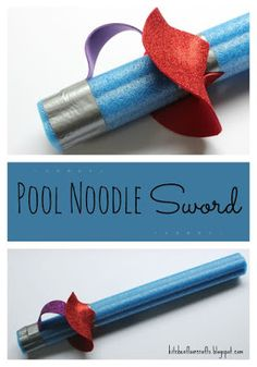 Kitchen Floor Crafts: Pool Noodle Sword