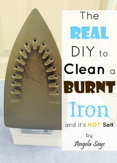 The real way to clean a burnt iron! (It really works!) - CLEAN IT WITH NAIL POLISH REMOVER
