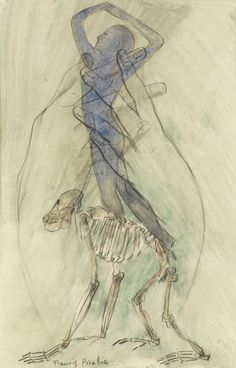 Francis Picabia (French, 1879-1953), Transparence, c.1930. Watercolour and pencil on paper, 29.8 x 19.5 cm.