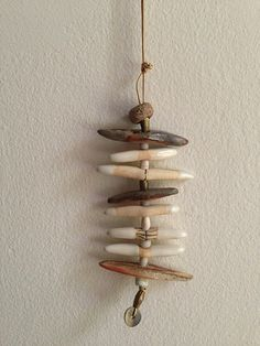 Necklace, with wood-fired beads. Suzanne Sullivan