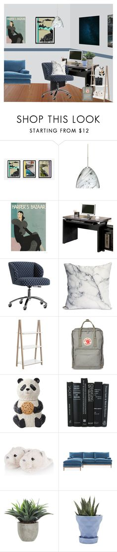 """""""grey blue office"""" by kiera-jay ❤ liked on Polyvore featuring interior, interiors, interior design, home, home decor, interior decorating, Besa Lighting, Coaster, PBteen and Safavieh"""