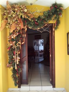 Birthday Thank You, Diy Christmas Ornaments, Holiday Decorations, Wreaths, Fall, Home Decor, Vintage Christmas Decorating, Hall Runner, Christmas Door