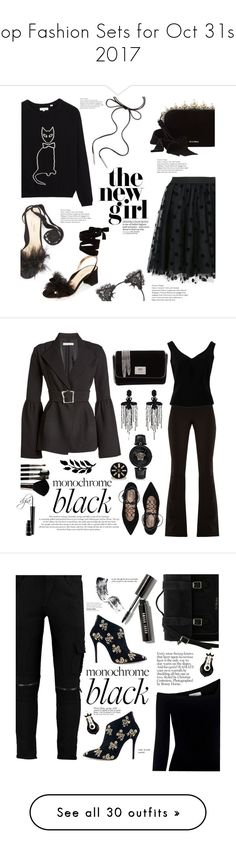"""""""Top Fashion Sets for Oct 31st, 2017"""" by polyvore ❤ liked on Polyvore featuring P.A.R.O.S.H., Babette, True Craft, Marion Parke, Miu Miu, Kendra Scott, allblack, A.W.A.K.E., Valentino and Rejina Pyo"""