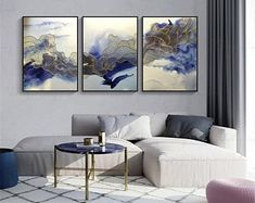 3 pieces gold lines abstract painting canvas wall art pictures for living room wall decor bedroom home decor original acrylic blue texture Art Encadrée, Art Mural, Teal Living Rooms, Living Room Art, Living Room Pictures, Wall Art Pictures, Abstract Canvas Wall Art, Wall Canvas, Acrylic Canvas