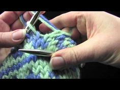 "Knitting - Tutorial: ""Fair-Isle Knitting on DPNs and Magic Loop"" - Level: intermediate."