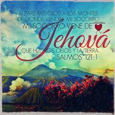 Salmo 12:1-3 Alzaré mis ojos a los montes; ¿De dónde vendrá mi socorro? Mi socorro viene de Jehová, que hizo los cielos y la tierra. No dará tu pie al resbaladero, ni se dormirá el que te guarda.♔
