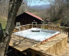 Mars Hill cabin rental - Luxury Hot Tub with Mt. Veiws