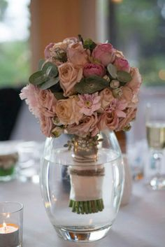 Champagne & pink bouquet