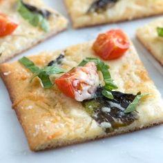 Tomato Basil Pizza Recipe with Sea Salt...use Joseph pita for pizza dough