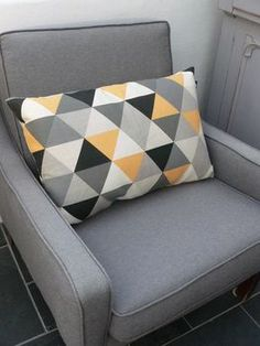 geometric cushion by peastyle | notonthehighstreet.com because ME living room needs some geome-T(r)EE! (sorry for the bad word jokes :-)): so me to a tee!