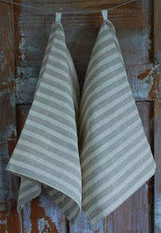 Linen Dish Towels. Striped too! Be still my beating heart.