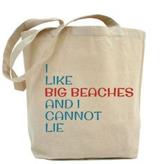 I Like Big Beaches Beach Bags Bridesmaid Gifts  by VintageBeach