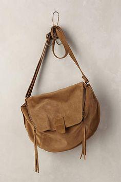 Double-Zip Suede Crossbody Bag - anthropologie.com