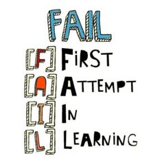 No succes without failure