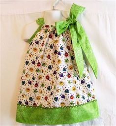 Girls Little Monsters Pillowcase Dress, Baby Girls Clothing, Baby Girls Dress, handmade Dress, Made in the USA   Use this girls dress for everyday, partying or most any occasion. It would make a great little school dress.   This is a very versatile little girls dress. Wear it as is for the summer months and when it gets cooler use the every popular layering method and continue to wear it. Once it starts getting to short just change it up and use it for a top for jeans   I can make this girls…