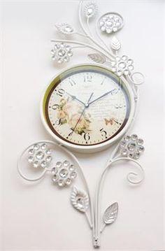Dekoratif Taşlı Ferforje Saat