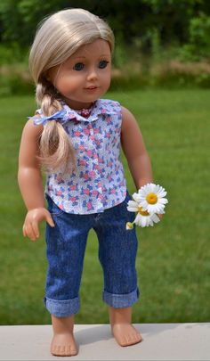 18 inch American Girl  Doll Clothes. Denim by Simply18Inches, $53.00