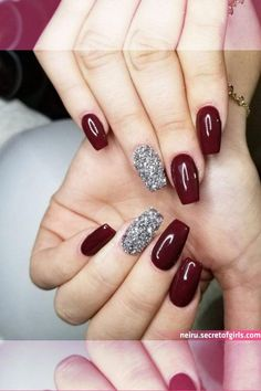 These holiday-themed nail art designs will make your nails sparkle this winter. Classy Nail Art, Classy Nail Designs, Nail Art Designs, Summer Toe Nails, Winter Nails, Fun Nails, Maroon Nail Designs, Spirit Nails, Deer Nails