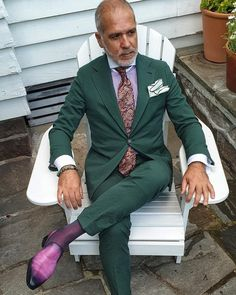 Mens Fashion Suits, Mens Suits, Black Men Beards, Suit Combinations, Mens Sport Coat, Bespoke Suit, Dress Socks, Suit And Tie, Gentleman Style
