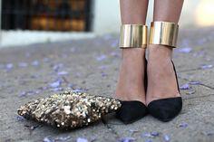 DIY ankle cuffs