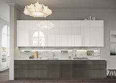 In our kitchen space, some things are staying the same and some are changing. See which design aspect will dominate most of the 2018 modern kitchen trends. Modern Kitchen Cabinets, Modern Farmhouse Kitchens, Kitchen Cabinet Design, Kitchen Modern, Layout Design, Küchen Design, Edge Design, Design Trends, Luxury Kitchen Design