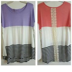One of our best selling tops are now available in these great Spring colors! #fashion #shop #stripes #springfashion #spring #newarrivals #ogden #northogden #love #l4l #utah #utahboutique #musthave #fashionista #shopbellame