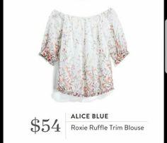 So cute!  Alice Blue Roxie Ruffle Trim Blouse