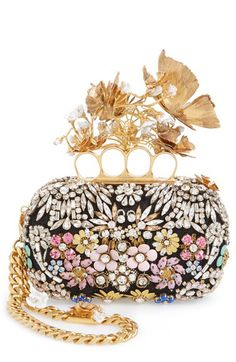 Luxe Leather Rucksack Alexander McQueen Butterfly Floral Box Clutch available atAlexander McQueen Butterfly Floral Box Clutch available at Alexander Mcqueen Clutch, Fashion Bags, Fashion Accessories, Best Leather Wallet, Floral Clutches, Unique Bags, Cute Purses, Wallets For Women, Evening Bags